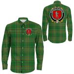 1stIreland Ireland Shirt - House of O'LOUGHLIN Irish Crest Long Sleeve Button Shirt A7