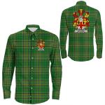 1stIreland Ireland Shirt - Bourke Irish Crest Long Sleeve Button Shirt A7