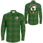 1stIreland Ireland Shirt - House of MACENCHROE Irish Crest Long Sleeve Button Shirt A7