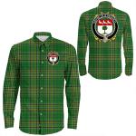 1stIreland Ireland Shirt - House of O'HEGARTY Irish Crest Long Sleeve Button Shirt A7