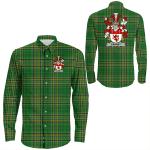 1stIreland Ireland Shirt - Carney Irish Crest Long Sleeve Button Shirt A7