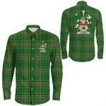 1stIreland Ireland Shirt - Leech Irish Crest Long Sleeve Button Shirt A7