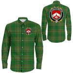 1stIreland Ireland Shirt - House of O'MEEHAN Irish Crest Long Sleeve Button Shirt A7