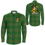 1stIreland Ireland Shirt - Lombard Irish Crest Long Sleeve Button Shirt A7