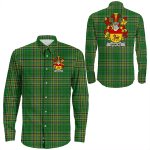 1stIreland Ireland Shirt - Uniacke Irish Crest Long Sleeve Button Shirt A7