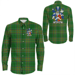 1stIreland Ireland Shirt - Holligan or O'Halligan Irish Crest Long Sleeve Button Shirt A7