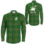 1stIreland Ireland Shirt - Lennon or O'Lennon Irish Crest Long Sleeve Button Shirt A7