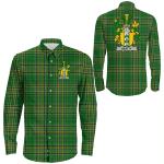 1stIreland Ireland Shirt - Beatty or Betagh Irish Crest Long Sleeve Button Shirt A7