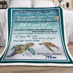 Personalized Turtle From Mom To My Beautiful Daughter Just Do Your Best Sherpa Fleece Blanket Great Customized Gifts For Birthday Christmas Thanksgiving Graduation