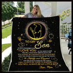 Personalized Family Stay Strong Be Confident To My Son From Mom Sherpa Fleece Blanket Great Customized Blanket Gifts For Birthday Christmas Thanksgiving