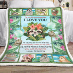 Personalized Sloth For The Amazing Woman You Are Today To My Granddaughter From Grandma Sherpa Fleece Blanket Great Customized Blanket Gifts For Birthday Christmas Thanksgiving Mother's Day
