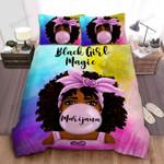 African American Black Baby Girl Magic Personalized Custom Name Duvet Cover Bedding Set
