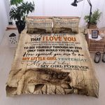 Personalized Wolf To My Daughter How Special You Are To Me Forever And Always Love You Cotton Bed Sheets Spread Comforter Duvet Cover Bedding Sets