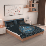Viking Valknut Duvet Cover Bed Sheets Bedding Set