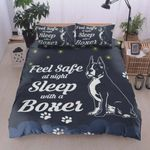 Feel Safe At Night Sleep With A Boxer Cotton Bed Sheets Spread Comforter Duvet Cover Bedding Sets Perfect Gifts For Boxer Dog Lover Gifts For Birthday Christmas Thanksgiving