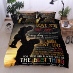 Personalized To My Daughter From Dad Never Forget That I Love You Cotton Bed Sheets Spread Comforter Duvet Cover Bedding Sets