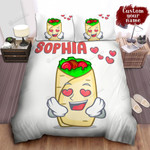Personalized Loving Cartoonish Burrito Character Bed Sheet Spread Comforter Duvet Cover Bedding Sets