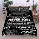 Personalized Family To My Son I Want You To Believe Deep In Your Heart You Are Capable Of Achieving Cotton Bed Sheets Spread Comforter Duvet Cover Bedding Sets