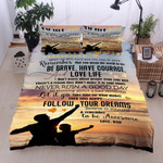 Personalized Family To My Son From Dad You Mean The World To Me Cotton Bed Sheets Spread Comforter Duvet Cover Bedding Sets