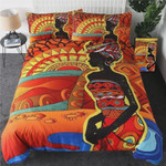 African Woman Cotton Bed Sheets Spread Comforter Duvet Cover Bedding Sets