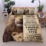 Personalized Lion To Daughter Find Something Is Good Every Day Positive Cotton Bed Sheets Spread Comforter Duvet Cover Bedding Sets