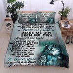 Personalized Wolf To My Daughter Made Me Proud Made Me Cry Seen Me Cry Cotton Bed Sheets Spread Comforter Duvet Cover Bedding Sets