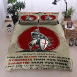 Personalized Combatant To My Son Always Remember You Are Braver Stronger Than You Think Cotton Bed Sheets Spread Comforter Duvet Cover Bedding Sets
