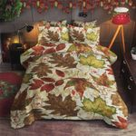 Autumn Old Dry Leaves Laying On Ground Cotton Bed Sheets Spread Comforter Duvet Cover Bedding Sets
