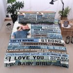 Personalized Family To My Daughter I'm So Proud Of You All Of My Heart I Love You Cotton Bed Sheets Spread Comforter Duvet Cover Bedding Sets