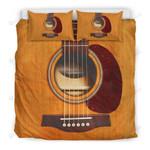 Wooden Guitar Duvet Cover Bedding Set
