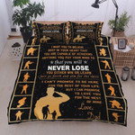 Personalized Family To My Son Anything You Put In Your Mind To Do That You Will Never Lose Forever And Always Love You Cotton Bed Sheets Spread Comforter Duvet Cover Bedding Sets