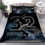 Basketball Love Personalized Custom Duvet Cover Bedding Set With Your Name  & Number