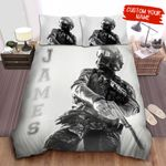 Personalized U.S. Navy Soldier Fully Equipped Gears Bed Sheets Spread Comforter Duvet Cover Bedding Sets