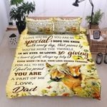 Personalized Horse Family To My Daughter I Love You So Special Cotton Bed Sheets Spread Comforter Duvet Cover Bedding Sets