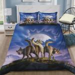 3 Wolves Cotton Bed Sheets Spread Comforter Duvet Cover Bedding Sets