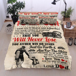 Personalized Scuba Diving Family Dad To Son Believe Deep In Your Heart Cotton Bed Sheets Spread Comforter Duvet Cover Bedding Sets