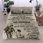 Personalized Soldier Dad To Daughter I Am Always Right There In Your Heart Cotton Bed Sheets Spread Comforter Duvet Cover Bedding Sets