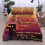 Personalized Family To Dad You Are My First Love And My Hero Cotton Bed Sheets Spread Comforter Duvet Cover Bedding Sets