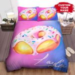 Personalized Juicy Donut Color Blended Painting Bed Sheets Spread Comforter Duvet Cover Bedding Sets