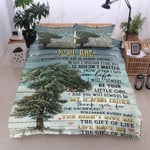 Personalized Tree To My Dad Life Gave Me The Gift Of You From Daughter Cotton Bed Sheets Spread Comforter Duvet Cover Bedding Sets
