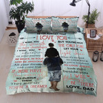 Personalized Family To My Son I Wish You The Strength From Dad Cotton Bed Sheets Spread Comforter Duvet Cover Bedding Sets