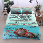 Personalized Protea Flower To My Daughter Follow Your Dreams Never Give Up I'll Always Love You Cotton Bed Sheets Spread Comforter Duvet Cover Bedding Sets
