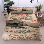 Personalized Family To My Son From Dad You Are The Happiness Of My Life Cotton Bed Sheets Spread Comforter Duvet Cover Bedding Sets