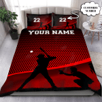 Personalized Basketball Love Custom Bedding Set With Your Name And Number Cotton Bed Sheets Spread Comforter Duvet Cover Bedding Sets
