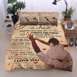 Personalized Family To My Daughter Life Is Short Learn The Rules Then Break Them Love Daughter Cotton Bed Sheets Spread Comforter Duvet Cover Bedding Sets