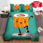 Personalized Kungfu Sushi Cartoon Character Bed Sheet Spread Comforter Duvet Cover Bedding Sets