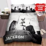 Personalized Black & White Skater Photograph Bed Sheets Spread Comforter Duvet Cover Bedding Sets