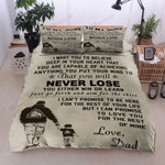 Personalized Family Dad And Son Holding Hands And Walking  Cotton Bed Sheets Spread Comforter Duvet Cover Bedding Sets