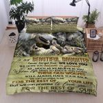 Personalized Wolf Family To My Beautiful Daughter These Old Wolves Will Always Have Your Back From Mom & Dad Cotton Bed Sheets Spread Comforter Duvet Cover Bedding Sets