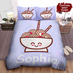 Personalized Happy Bowl Of Ramen Cartoon Character Bed Sheet Spread Comforter Duvet Cover Bedding Sets